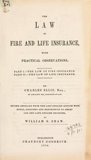 Cover of: The law of fire and life insurance