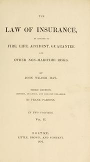 Cover of: law of insurance | John Wilder May