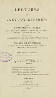 Lectures on diet and regimen by A. F. M. Willich