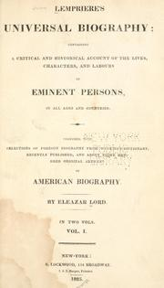 Cover of: Lempriere