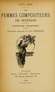 Les femmes compositeurs de musique.