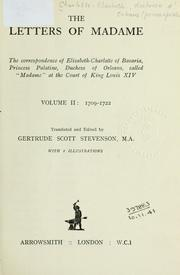 Cover of: The letters of Madame