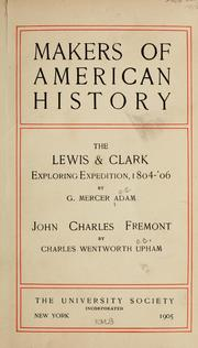 Cover of: The Lewis & Clark exploring expedition: 1804-'06