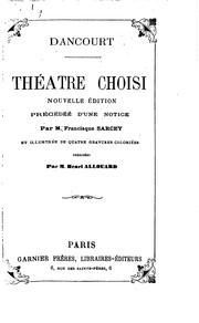 Cover of: Théatre choisi