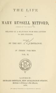 Cover of: The life of Mary Russell Mitford