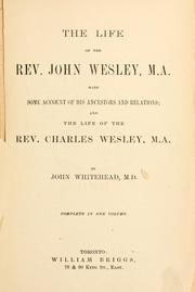 Cover of: life of the Rev. John Wesley. | Whitehead, John