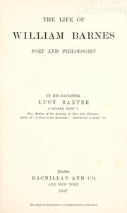 Cover of: The life of William Barnes