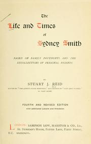 Cover of: The life and times of Sydney Smith | Stuart J. Reid