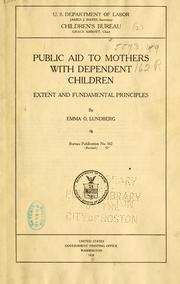 Cover of: Public aid to mothers with dependent children