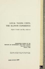 Cover of: Local taxing units