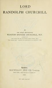 Cover of: Lord Randolph Churchill