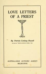 Cover of: Love letters of a priest
