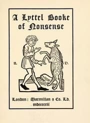 Cover of: A lyttel booke of nonsense