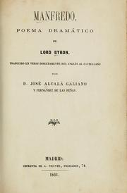 Cover of: Manfredo: poema dramático