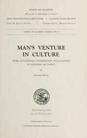 Cover of: Man's venture in culture