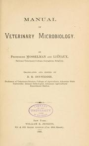 Cover of: Manual of veterinary microbiology | Gustave Mosselman