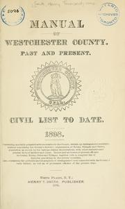 Cover of: Manual of Westchester county