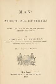 Cover of: Man--where, whence, and whither?