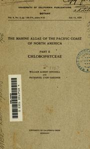 Cover of: The marine algae of the Pacific coast of North America