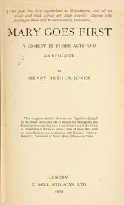 Cover of: Mary goes first | Henry Arthur Jones