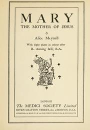 Cover of: Mary, the mother of Jesus