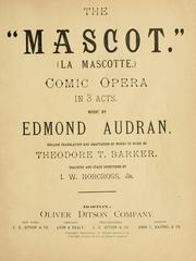Mascotte by Edmond Audran