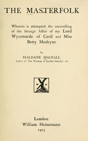 Cover of: The masterfolk
