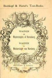 Cover of: The mastersingers of Nuremburg