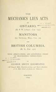Cover of: The Mechanics