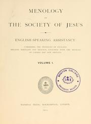 Cover of: Menology of the Society of Jesus. | Jesuits.