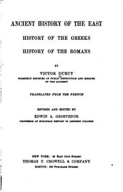 Cover of: Ancient History of the East: History of the Greeks; History of the Romans