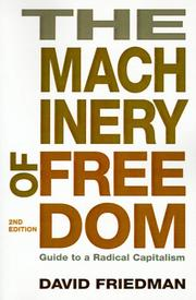 Cover of: The machinery of freedom