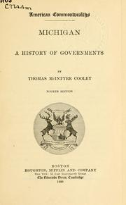 Cover of: Michigan, a history of governments