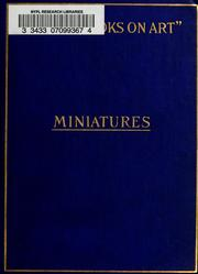 Cover of: Miniatures, ancient and modern