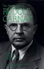 Cover of: The Philosophy of Rudolf Carnap, Volume 11 (Library of Living Philosophers)