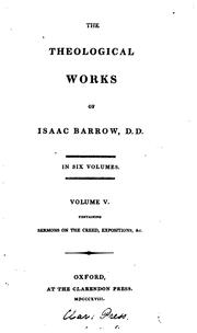 Cover of: The theological works of Isaac Barrow