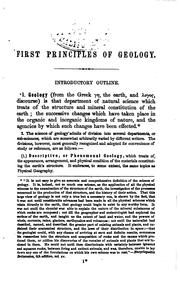 Cover of: Wells's First Principles of Geology: A Text-book for Schools, Academies and ..