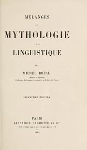 Cover of: Mélanges de mythologie et de linguistique