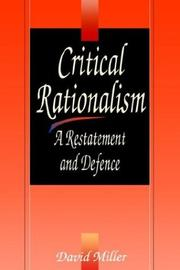 Cover of: Critical rationalism
