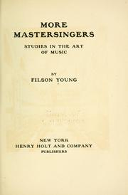 Cover of: More mastersingers