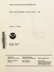 Cover of: Mussel watch worldwide literature survey - 1991