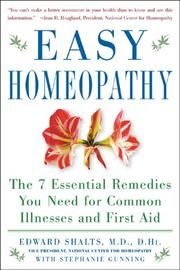 Cover of: Easy homeopathy | Edward Shalts