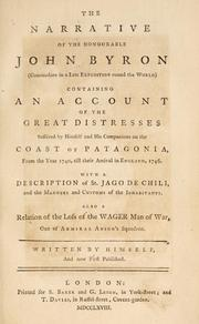 Cover of: The narrative of the Honourable John Byron