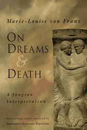 Cover of: On Dreams & Death | Marie-Louise Von Franz
