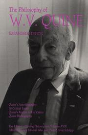 Cover of: The philosophy of W.V. Quine |