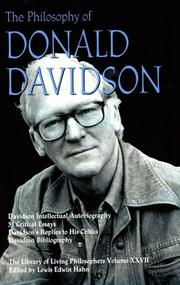 Cover of: The Philosophy of Donald Davidson