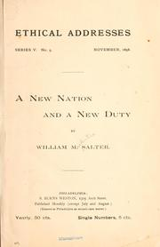 Cover of: A new nation and a new duty