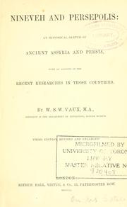 Cover of: Nineveh and Persepolis | William Sandys Wright Vaux