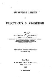 Cover of: Elementary lessons in electricity & magnetism