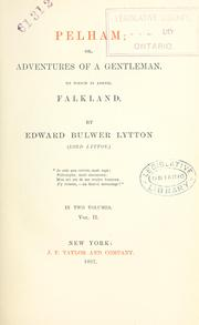Cover of: The novels and romances of Edward Bulwer Lytton